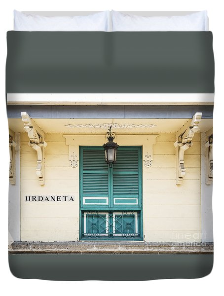 colonial architecture in intramuros old town of Manila philippin Duvet Cover