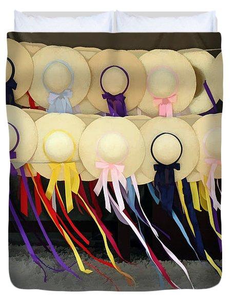 Colonial Hats Duvet Cover