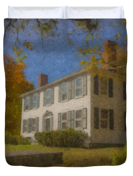 Colonial House On Main Street, Easton Duvet Cover