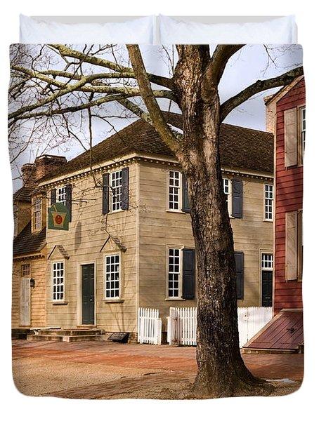 Colonial Street Scene Duvet Cover