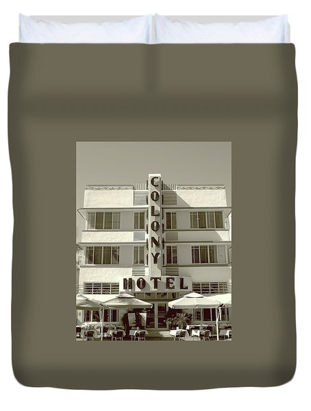 Colony Hotel South Beach Duvet Cover