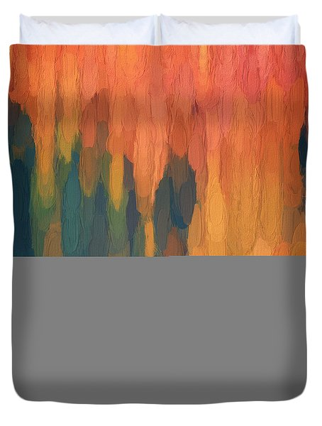 Color Abstraction L Sq Duvet Cover