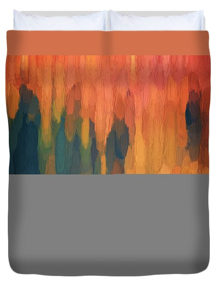 Duvet Cover featuring the digital art Color Abstraction L Sq by David Gordon