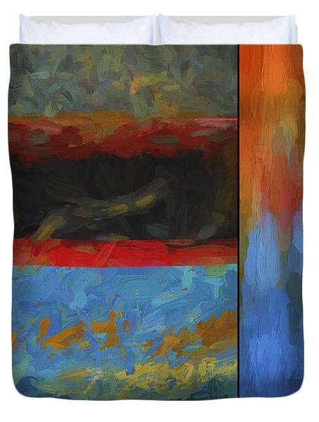 Color Abstraction Li  Duvet Cover
