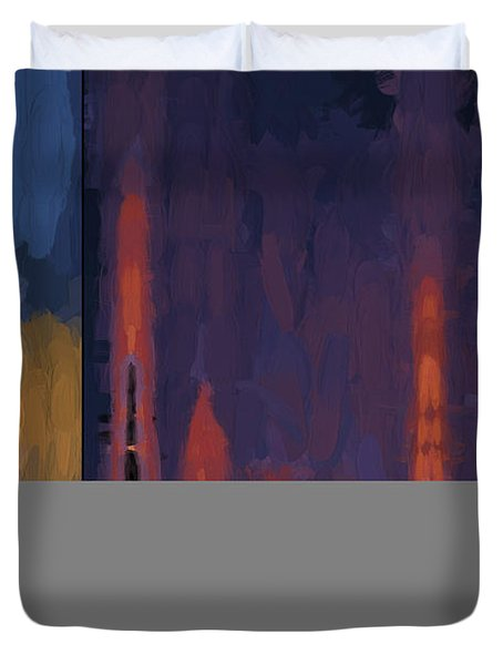 Color Abstraction Lii Duvet Cover