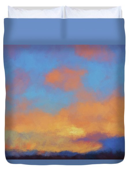 Duvet Cover featuring the digital art Color Abstraction Lvii by David Gordon