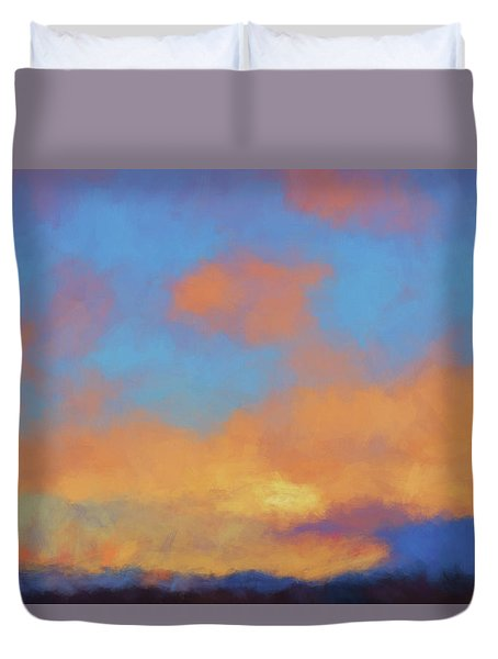 Color Abstraction Lvii Duvet Cover