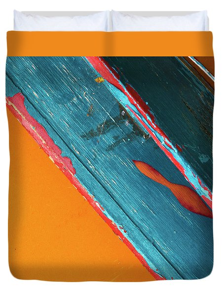 Duvet Cover featuring the photograph Color Abstraction Lxii Sq by David Gordon