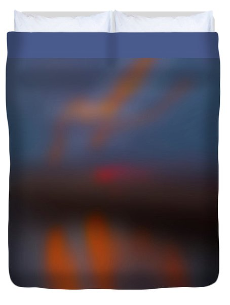 Duvet Cover featuring the photograph Color Abstraction Lxiii Sq by David Gordon