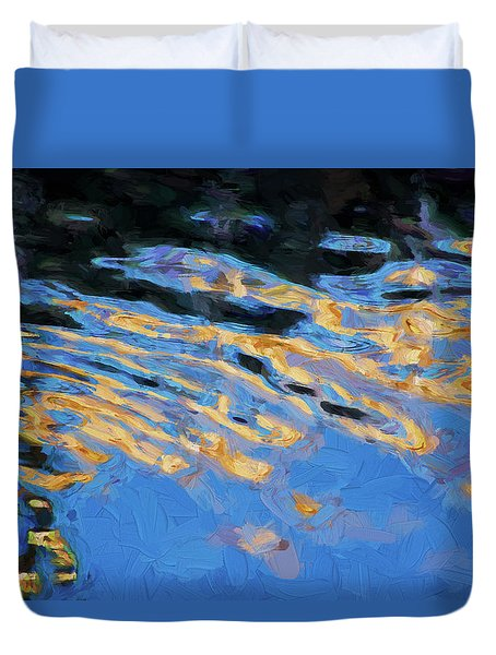 Duvet Cover featuring the photograph Color Abstraction Lxiv by David Gordon