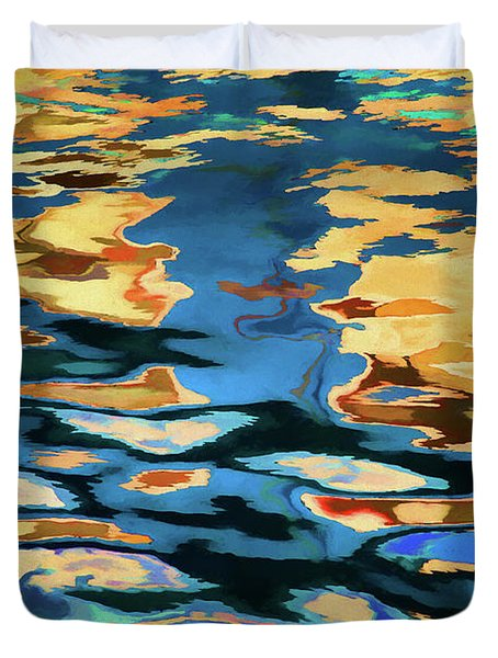 Color Abstraction Lxix Duvet Cover