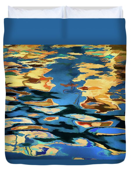 Duvet Cover featuring the photograph Color Abstraction Lxix by David Gordon
