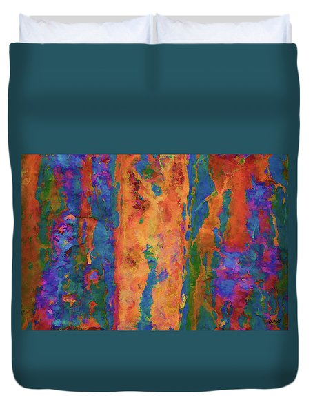 Color Abstraction Lxvi Duvet Cover