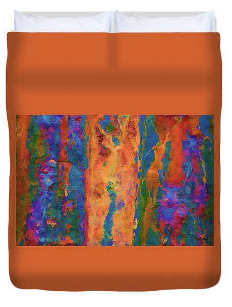 Duvet Cover featuring the photograph Color Abstraction Lxvi by David Gordon