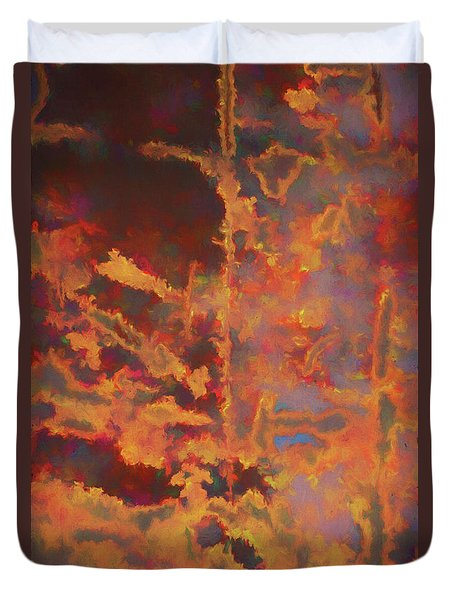 Color Abstraction Lxxi Duvet Cover