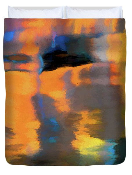 Color Abstraction Lxxii Duvet Cover