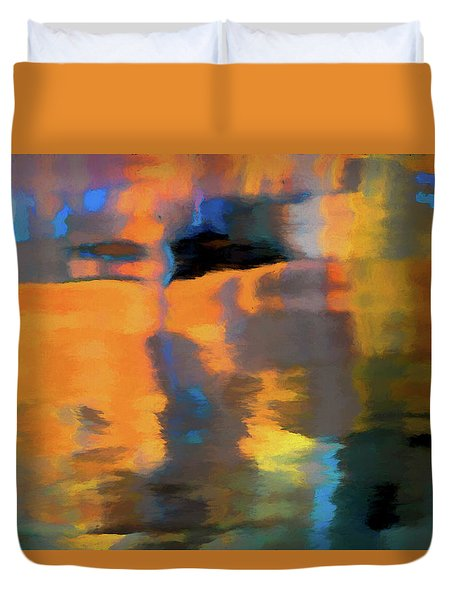 Duvet Cover featuring the photograph Color Abstraction Lxxii by David Gordon