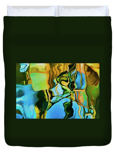 Duvet Cover featuring the photograph Color Abstraction Lxxiii by David Gordon