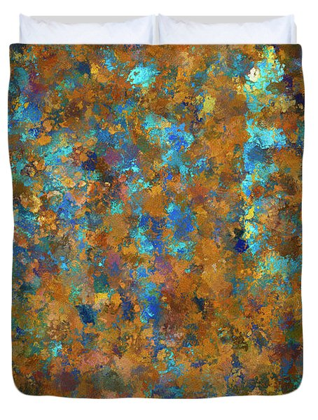 Color Abstraction Lxxiv Duvet Cover
