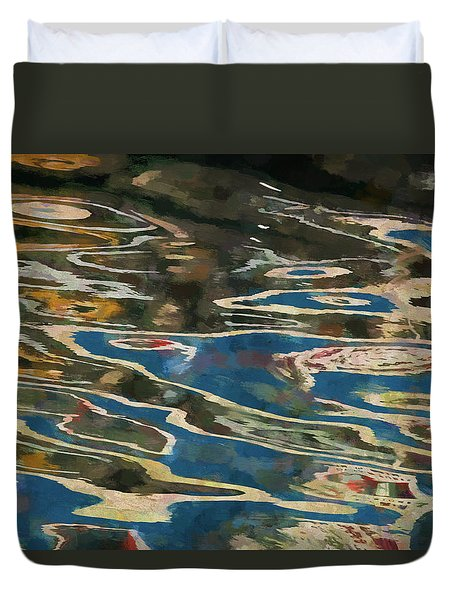 Duvet Cover featuring the photograph Color Abstraction Lxxv by David Gordon
