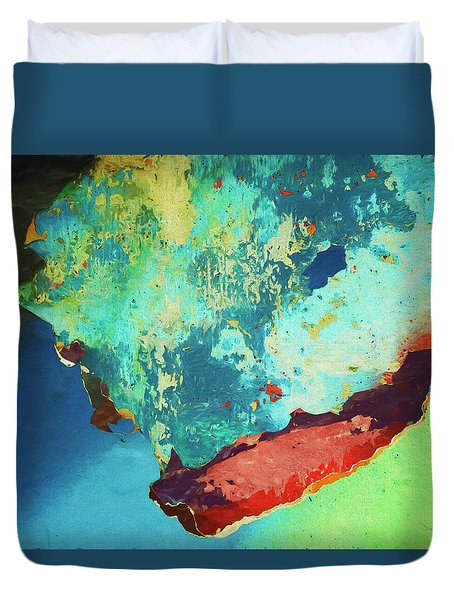 Duvet Cover featuring the photograph Color Abstraction Lxxvi by David Gordon