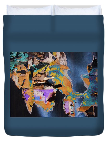 Duvet Cover featuring the photograph Color Abstraction Lxxvii by David Gordon