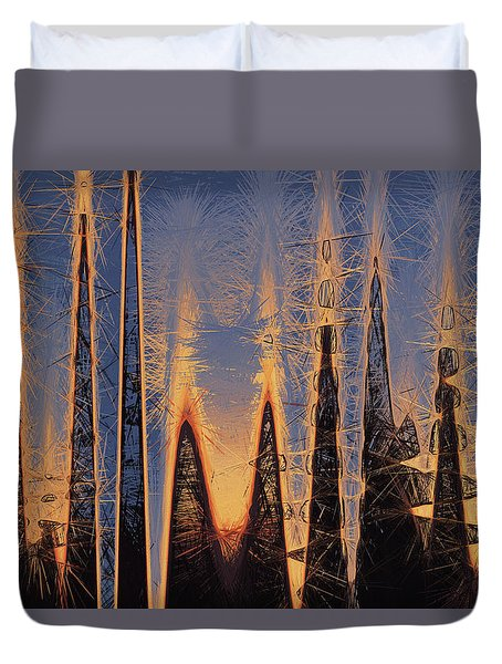 Duvet Cover featuring the photograph Color Abstraction Xl by David Gordon