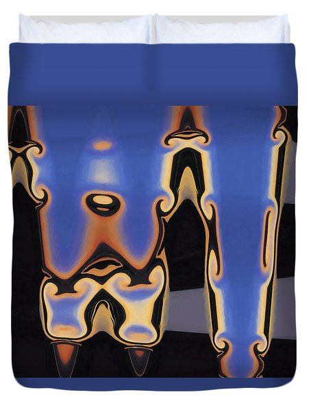 Duvet Cover featuring the digital art Color Abstraction Xliii by David Gordon