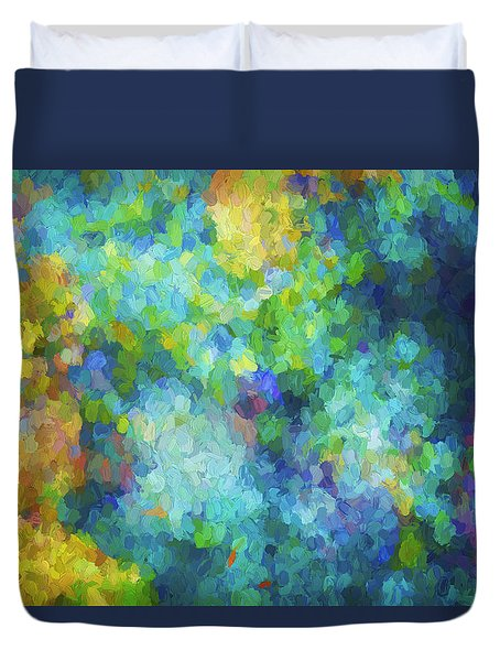 Duvet Cover featuring the digital art Color Abstraction Xliv by David Gordon