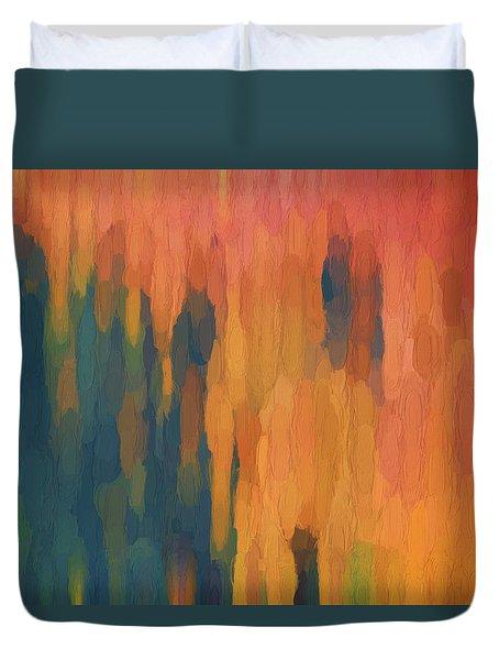 Color Abstraction Xlix Duvet Cover