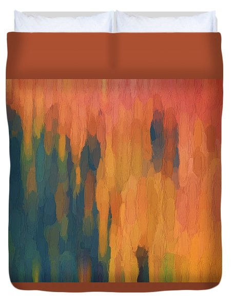 Duvet Cover featuring the digital art Color Abstraction Xlix by David Gordon