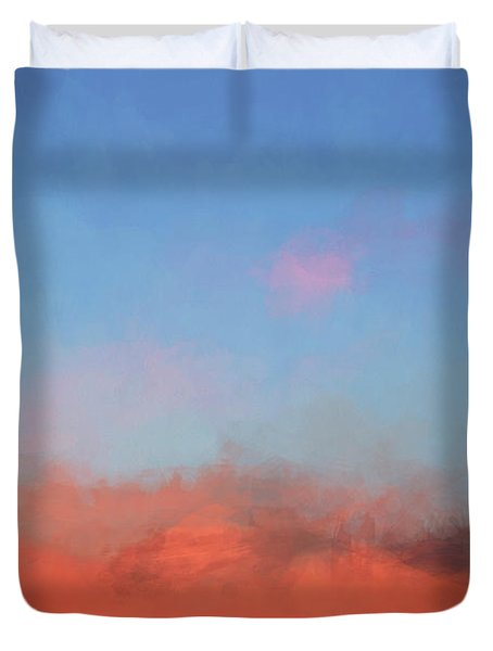 Color Abstraction Xlvii - Sunset Duvet Cover