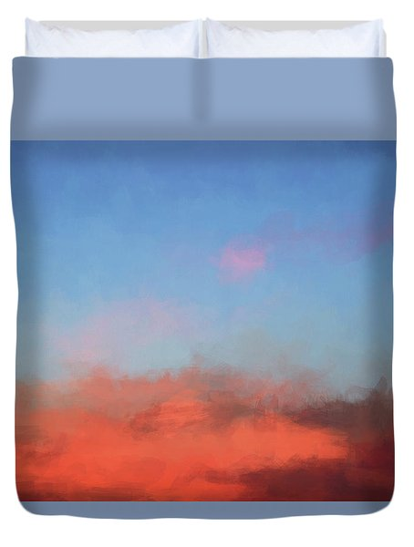 Duvet Cover featuring the photograph Color Abstraction Xlvii - Sunset by David Gordon