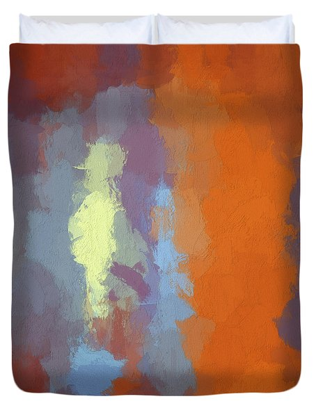 Color Abstraction Xxiii Sq Duvet Cover