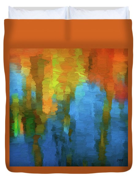 Duvet Cover featuring the digital art Color Abstraction Xxxi by David Gordon