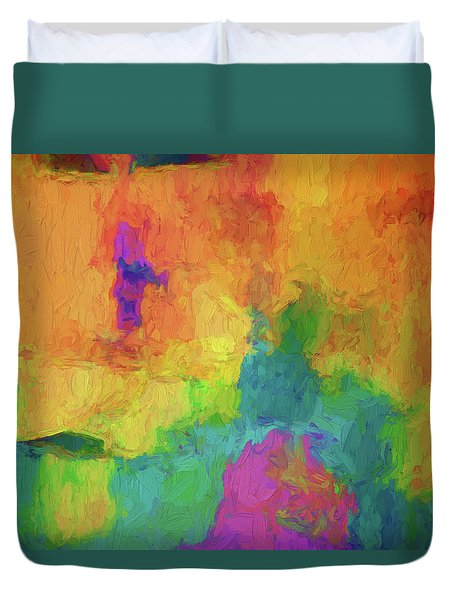 Color Abstraction Xxxiv Duvet Cover
