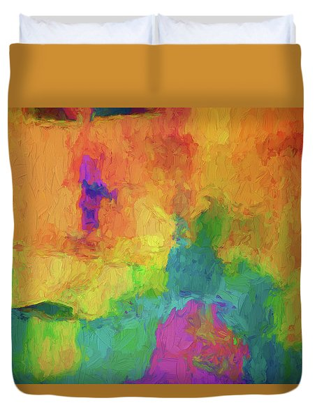 Duvet Cover featuring the digital art Color Abstraction Xxxiv by David Gordon
