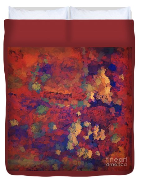 Duvet Cover featuring the digital art Color Abstraction Xxxv by David Gordon