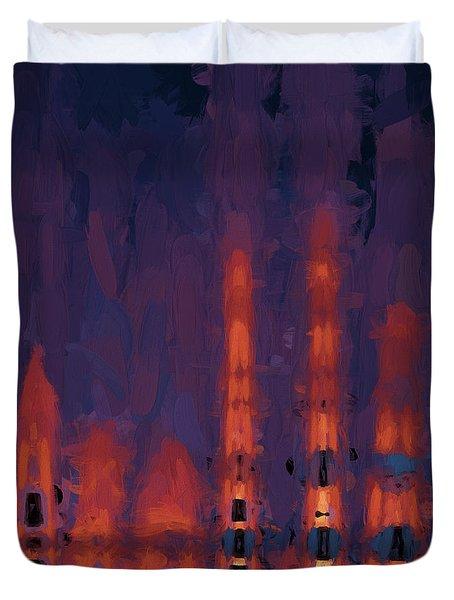 Color Abstraction Xxxviii Duvet Cover