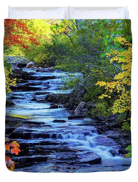 Color Alley Duvet Cover