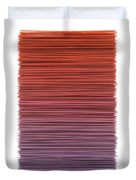 Color And Lines 3 Duvet Cover