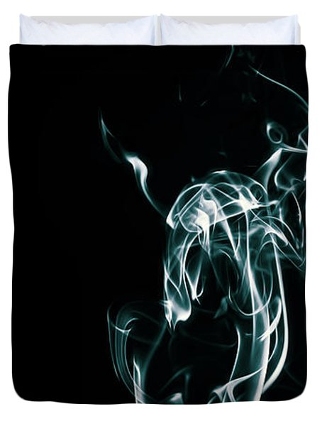 Color And Smoke Iv Duvet Cover