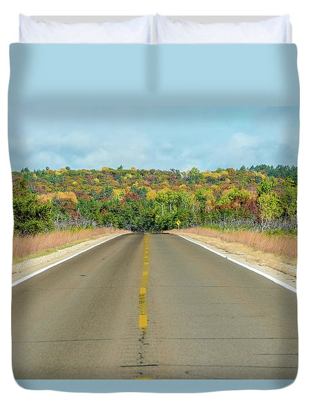 Color At Roads End Duvet Cover
