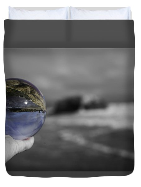 Duvet Cover featuring the photograph Color Ball by Lora Lee Chapman