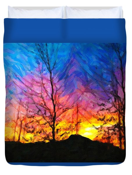 Color Burn Duvet Cover