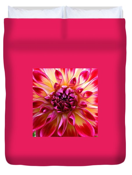 Color Burst Dahlia  Duvet Cover