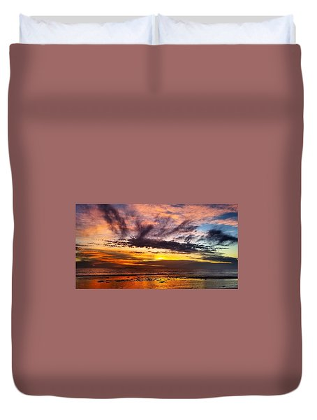Color Burst Malibu Sunset Duvet Cover