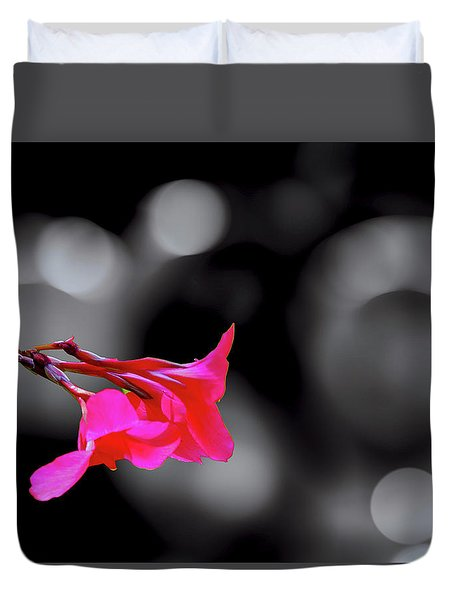 Color By Fuchsia Duvet Cover