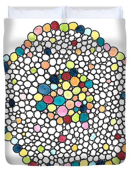 Color Cells Duvet Cover