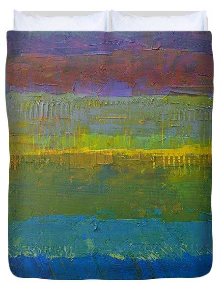 Color Collage Five Duvet Cover by Michelle Calkins